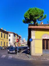 Santa Maria Assunta beyond city wall in Pisa Italy 1
