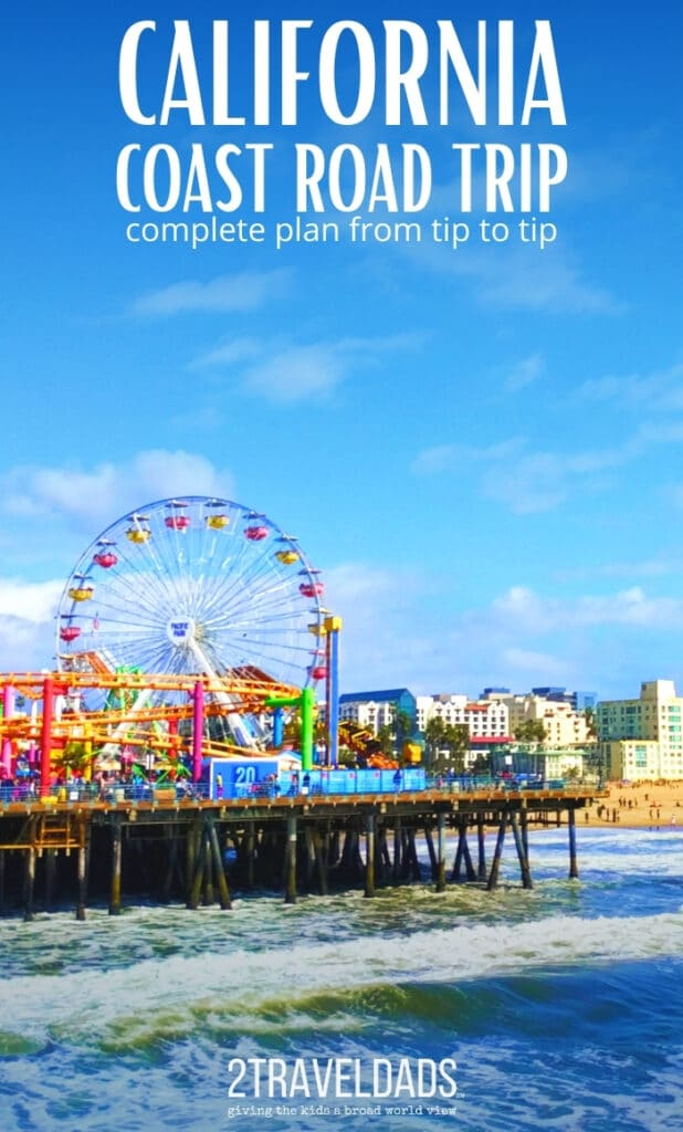 Make time for a stop at the Santa Monica Pier on your California Coast road trip. Complete plan from the Redwoods to San Diego. #California #roadtrip