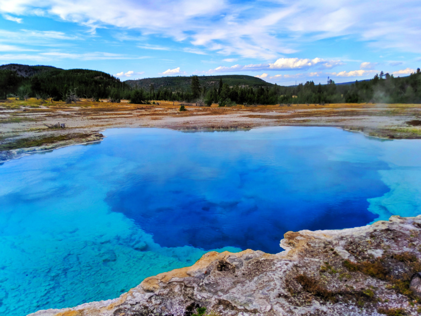 Sapphire Pool at Biscuit Basin Geysers Yellowstone National Park Wyoming 2