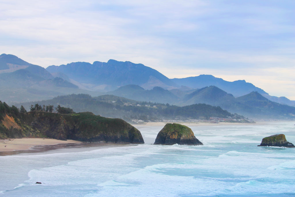 Sea Stacks at Cannon Beach from Ecola State Park 2
