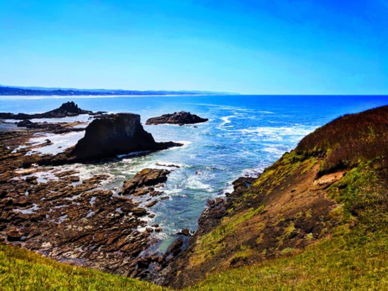 Sea Stacks at Yaquina Head Lighthouse Oregon Coast 1