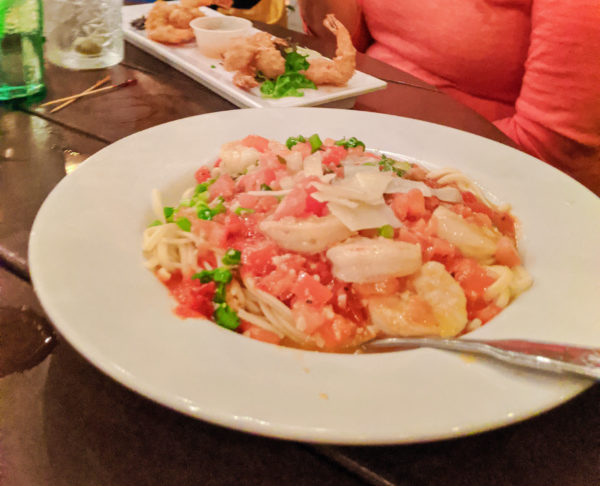 Seafood pasta at OC Whites waterfront Saint Augustine FL 1