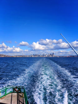 Seattle Skyline from Bainbridge Island Ferry 2