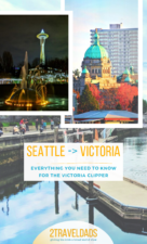 Taking the Victoria Clipper is the easiest way to get to Vancouver Island from Seattle. Victoria Clipper tickets, itinerary, and hotel recommendations all in one place. #seattle #Canada #vacation