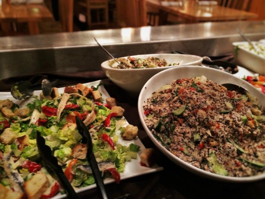 Side and Salad Bar in Kingfisher Restaurant at Sleeping Lady Resort Leavenworth WA 4
