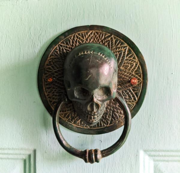 Skull Door Knocker at Buccaneer Bungalow Vacation Rental 2020 1