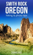 Visiting Smith Rock with kids or without is an ideal Central Oregon experience. Hiking, wildlife, rock climbing and the beautiful landscape make Smith Rock State Park one of the wonders of Oregon. #hiking #oregon