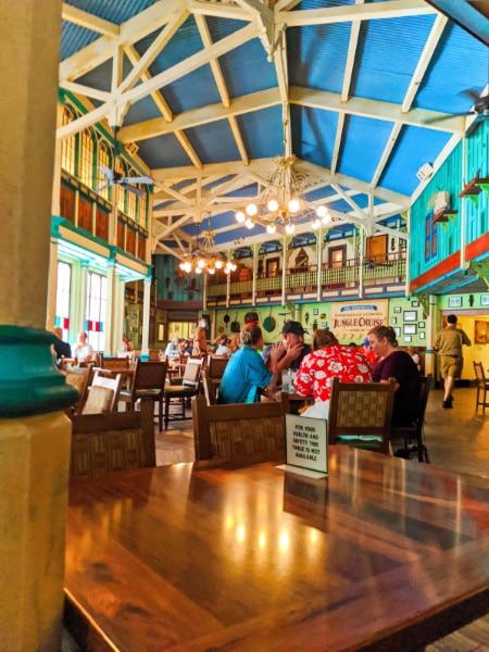 Social Distancing dining area at Jungle Skipper Canteen Magic Kingdom Disney World 2020 1