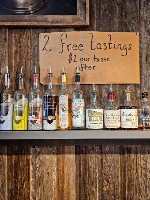Spirits Tastings Breckenridge Distillery Downtown Breckenridge Colorado 1