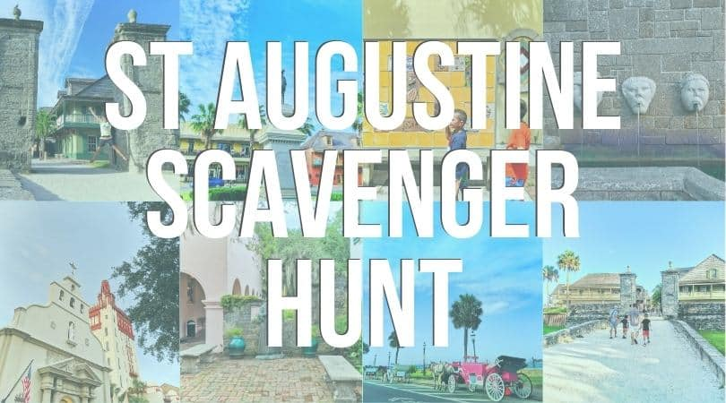 Scavenger hunt for downtown historic Saint Augustine, Florida. Sights and hidden gems to look for.