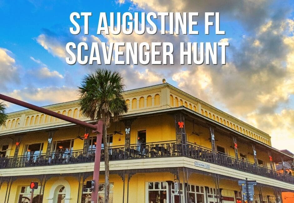 Downtown Saint Augustine Scavenger Hunt - including download!