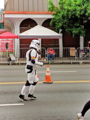 Storm Trooper marching in San Diego Pride Parade 1