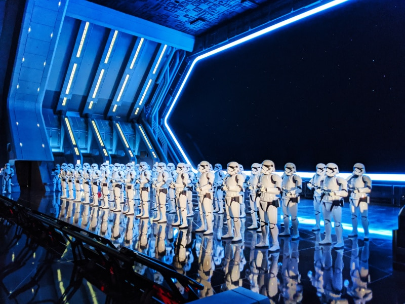 Storm Troopers in Rise of the Restistance in Galaxys Edge Star Wars Land Disneyland 2020 3