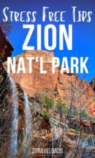 The best tips for planning a Zion National Park trip, including where to stay, easy hiking, maps for transportation in the park and more. #hiking #Utah #NationalPark