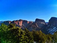 Sunlight through Kolob Canyons Zion National Park Utah 1