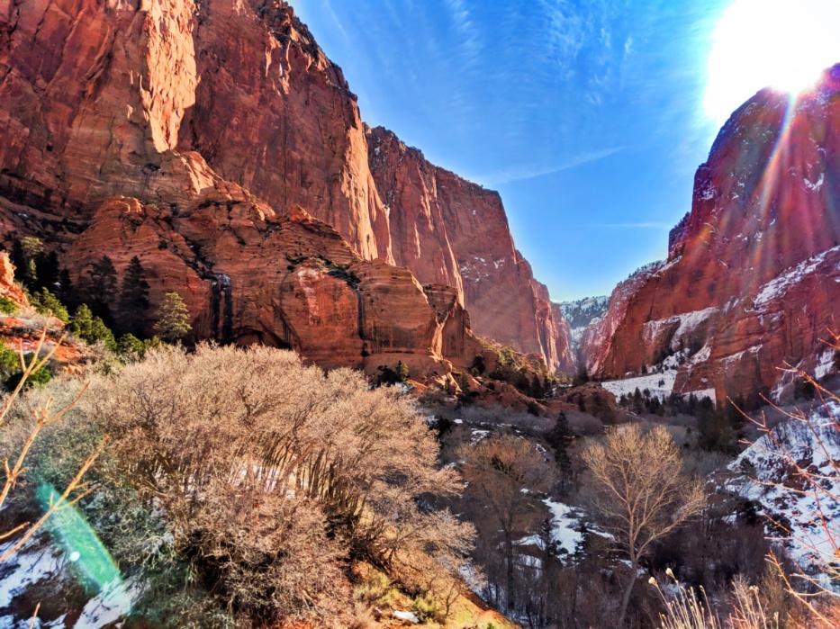 Sunlight through Kolob Canyons Zion National Park Utah 4