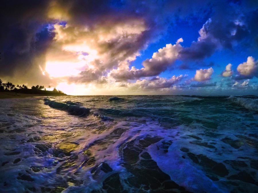 Sunset at Sunset Beach Pupakea North Shore Oahu Hawaii 1.JPG