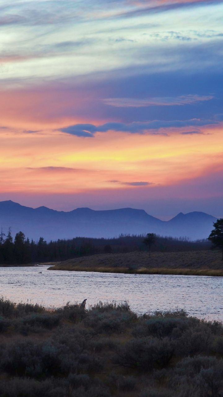Sunset on Madison River, 2 Days in Yellowstone Itinerary