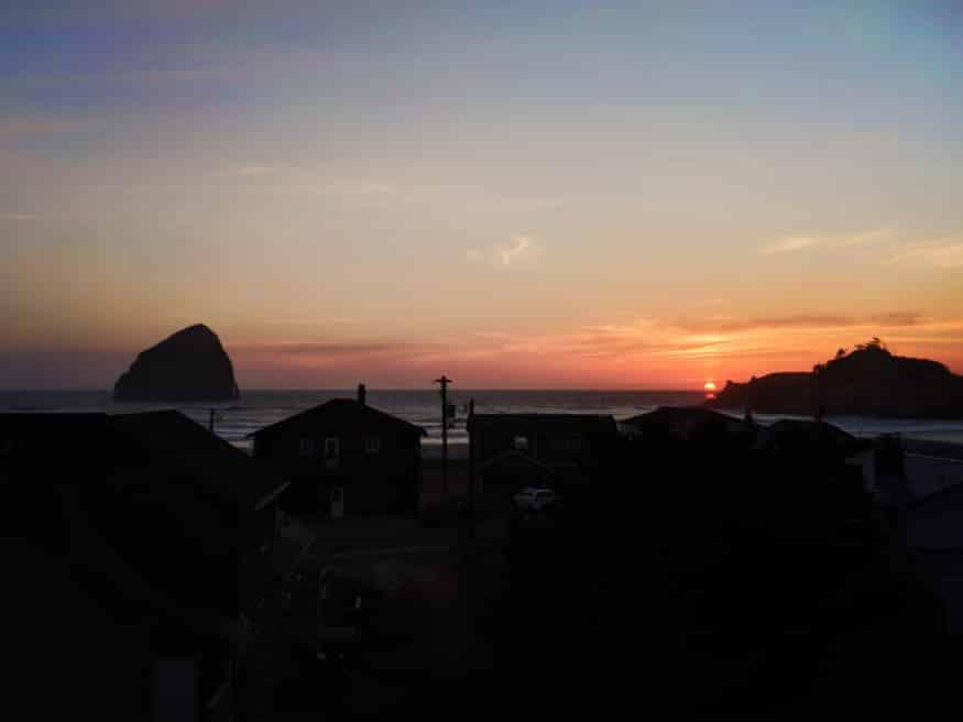 Sunset over Cape Kiwanda Pacific City Oregon Coast 2