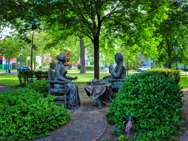 Susan B Anthony and Frederick Douglass statues in Rochester New York 1
