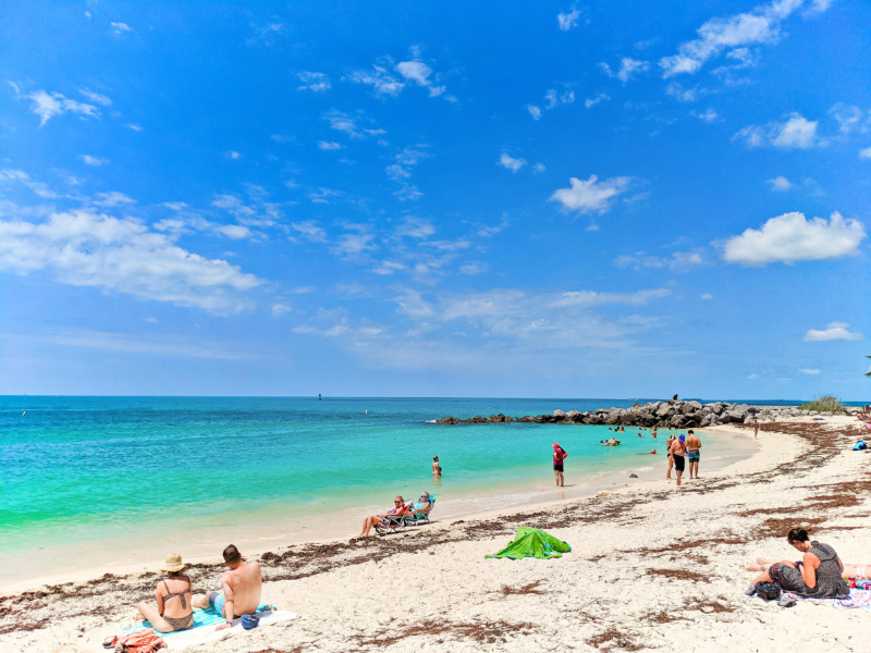 Swimming Beach at Fort Zachary Taylor State Park Key West Florida Keys 1