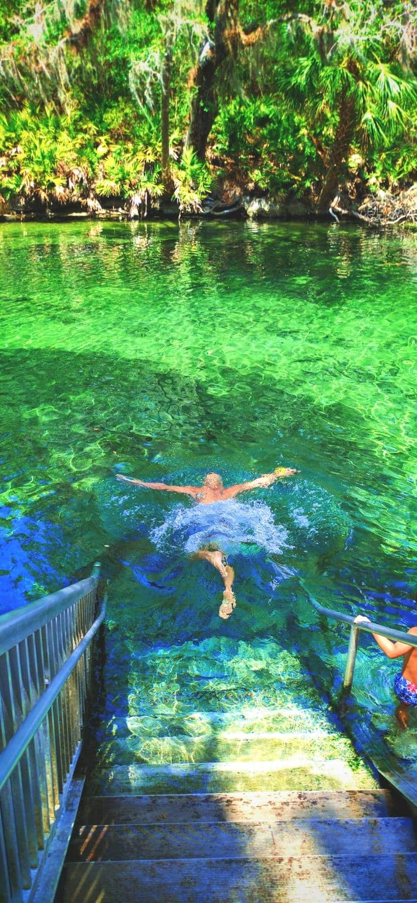Family Swimming at Blue Spring State Park Florida