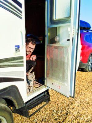 Taylor Family Camping Trailer at KOA Journey Amarillo Texas cross country move 2020 1