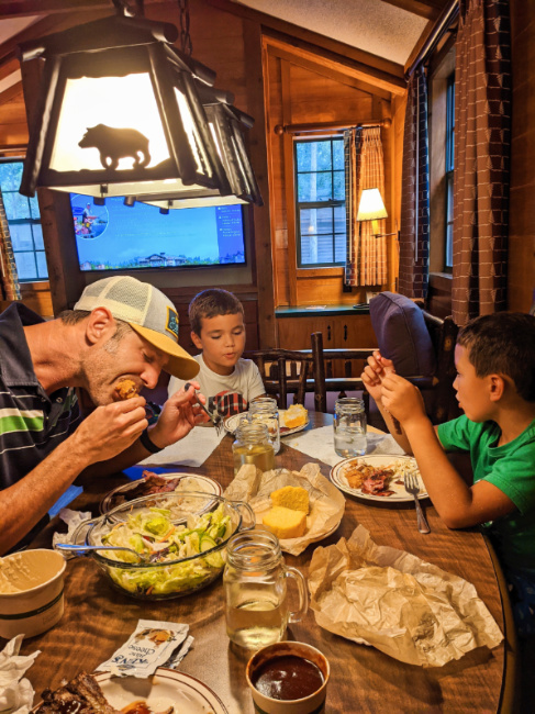 Taylor Family Diner in Cabin at Fort Wilderness Resort and Campground Disney World Orlando 3