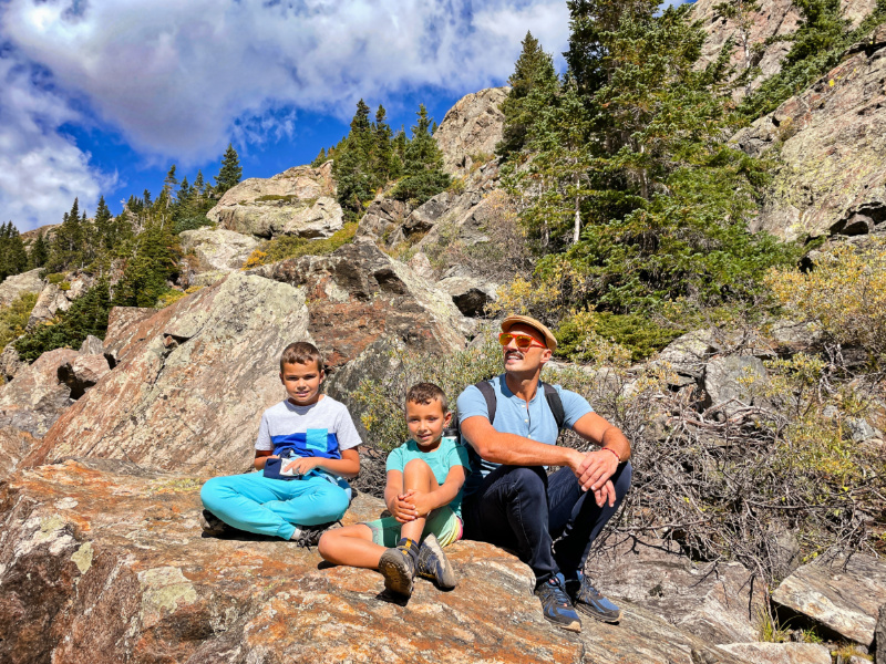 Taylor Family Hiking at Blue Lakes White River National Forest Breckenridge Colorado 1