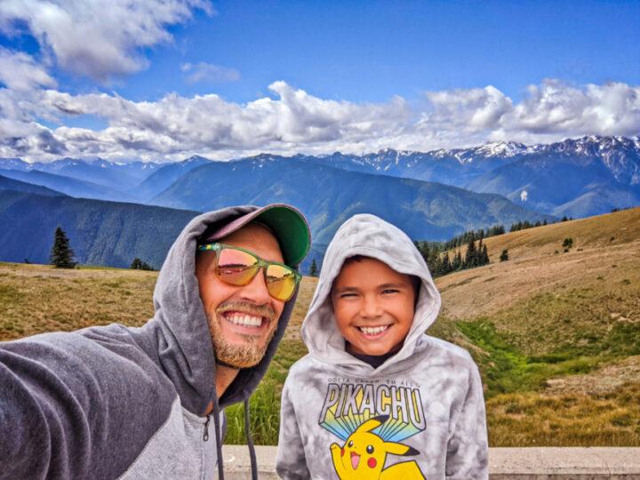 Taylor Family Hiking at Hurricane Ridge Olympic National Park Washington 2