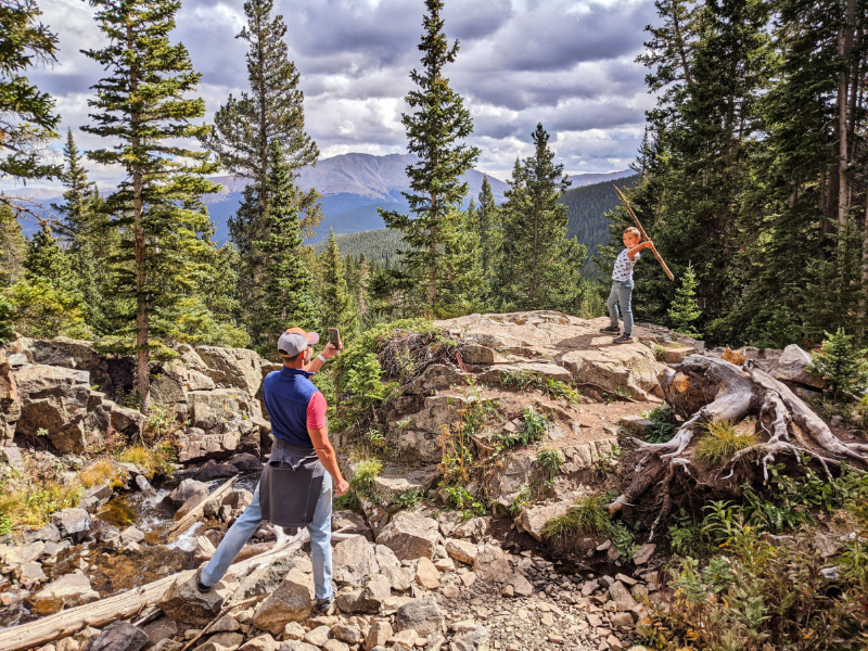 Taylor Family Hiking at Mohawk Lakes White River National Forest Breckenridge Colorado 1