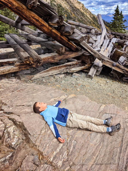 Taylor Family Hiking at Mohawk Lakes White River National Forest Breckenridge Colorado 2