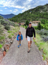 Taylor Family Hiking from Visitor Center Lewis and Clark Caverns State Park Montana 1