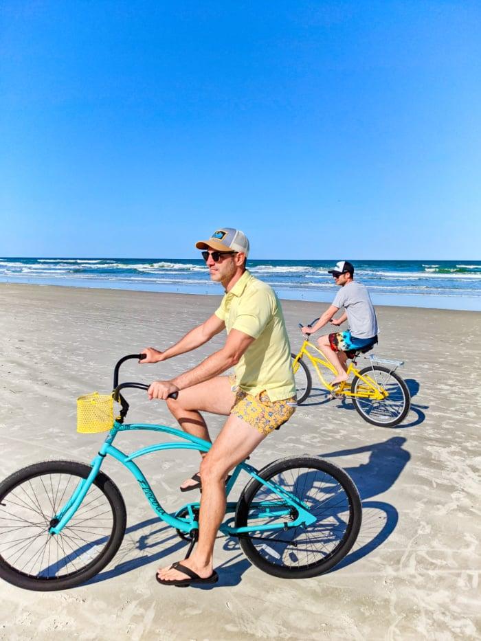 Taylor Family Riding Bikes on Butler Beach Florida 2021 1