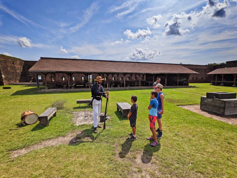 Taylor Family and Living History at Old Fort Jackson Historic Site Savannah Coastal Georgia 2