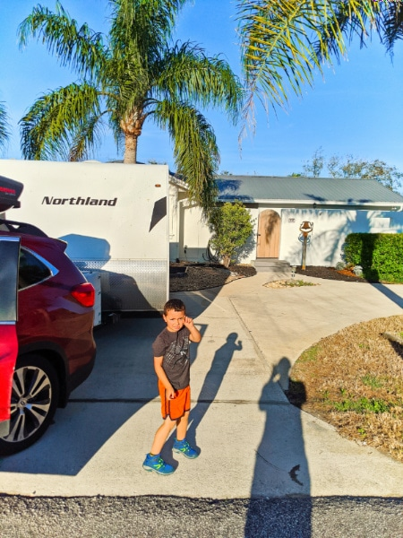 Taylor Family arriving at new house Butler Beach Florida Cross Country Move 2020 2