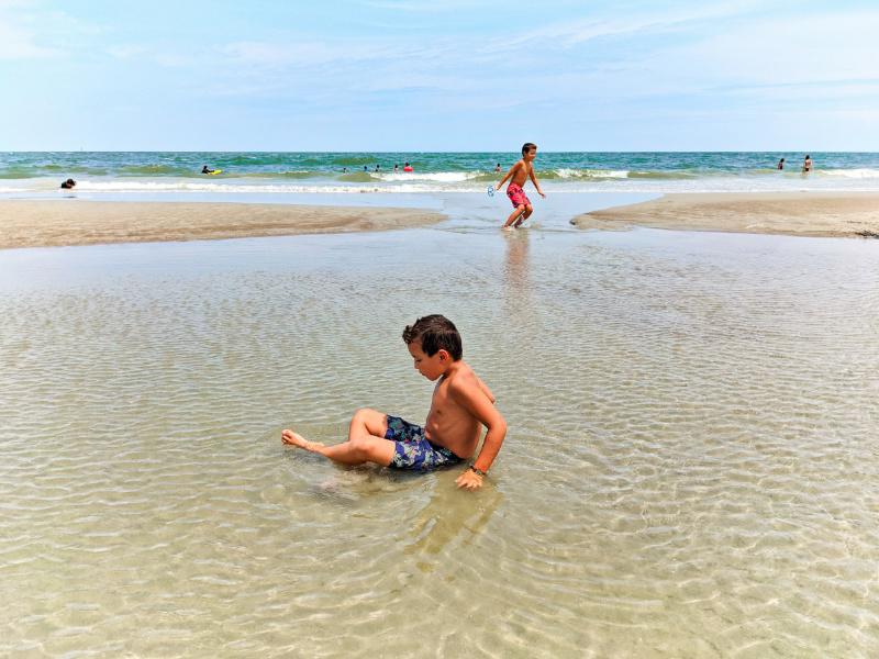 Taylor Family at 6th Street Beach Tybee Island Coastal Georgia 4