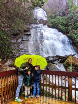 Taylor Family at Anna Ruby Falls near Alpine Helen North Georgia 7