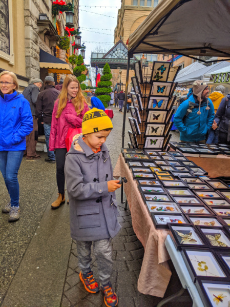 Taylor Family at Bastion Square Saturday Market downtown Victoria BC 1