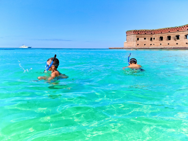 Taylor Family at Beach in Dry Tortugas National Park Key West Florida Keys 2020 10