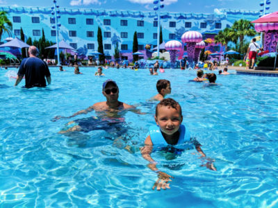 Taylor Family at Big Blue pool Art of Animation Resort Walt Disney World Orlando Florida 5