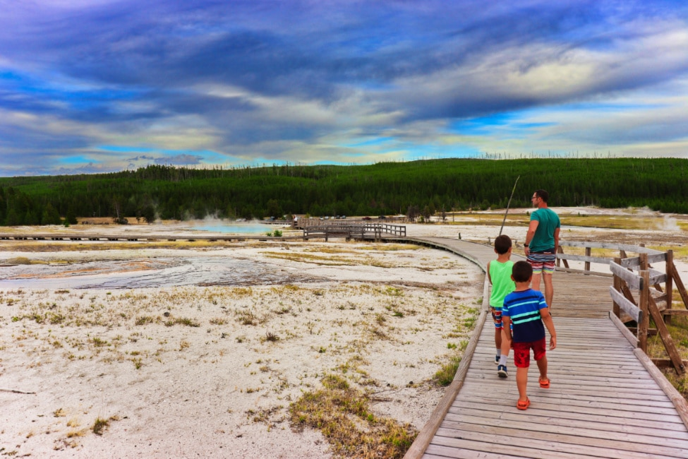 Taylor Family at Biscuit Geyser Basin Yellowstone National Park Wyoming 3