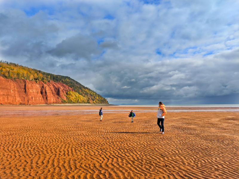 Taylor Family at Blomidon Provincial Park Bay of Fundy Nova Scotia 1