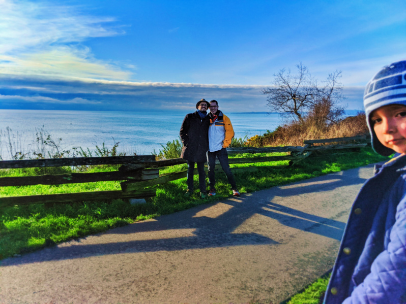 Taylor Family at Bluff Trail at Beacon Hill Park Victoria BC 1