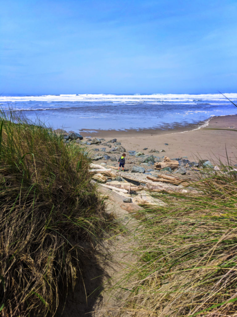 Taylor Family at Bullards Beach State Park Bandon Oregon Coast 1b