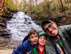Taylor Family at Cacading waterfalls at Minnehaha Falls North Georgia 2