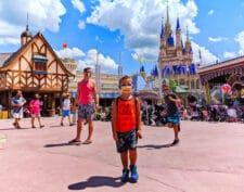 Taylor Family at Cinderella's Castle Magic Kingdom Disney World Florida 2020 4