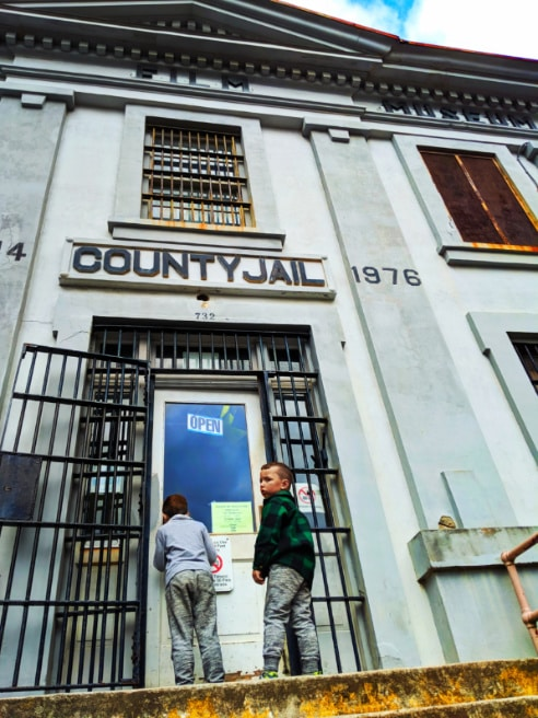 Taylor Family at Clatsop County Jail Goonies Oregon Film Museum Astoria Oregon 1