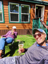Taylor Family at Deluxe Family Cabin at Astoria KOA Campground Warrenton Oregon 6