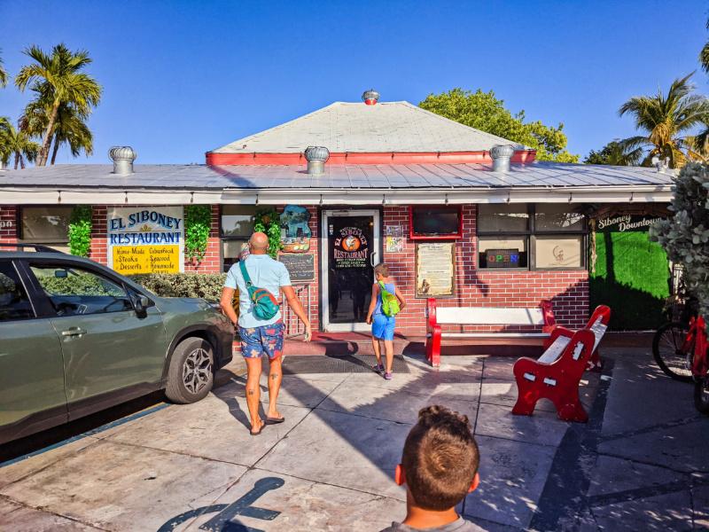 Taylor Family at El Siboney Cuban Restaurant Key West Florida Keys 2021 2